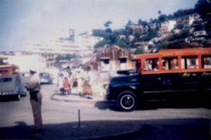 Vue sur le carrefour dans les années 1950/1960